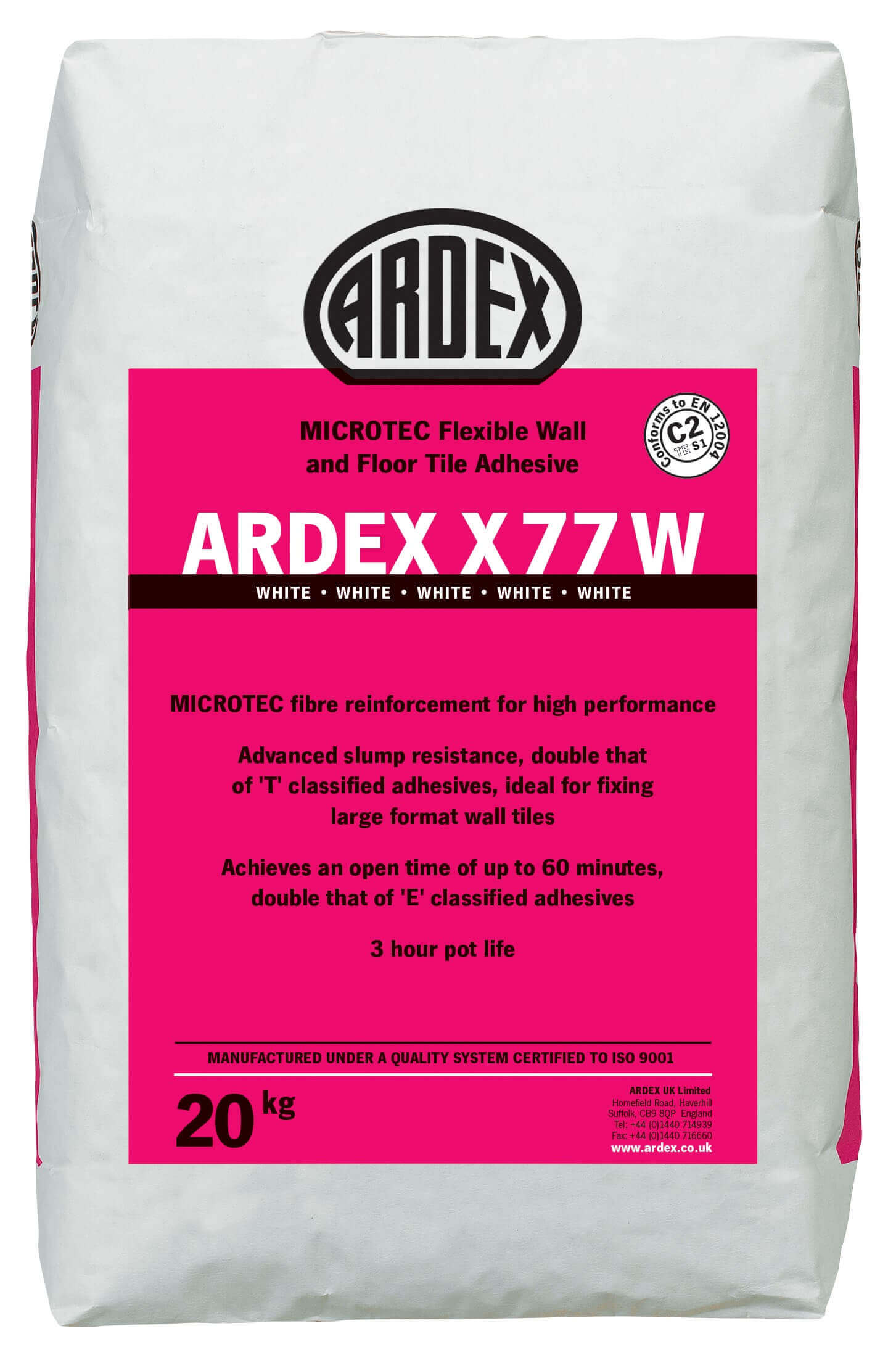 Ardex x77w white 20kg bag screed giant screed insulation ardex dailygadgetfo Image collections